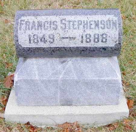 STEPHENSON, FRANCIS - Shelby County, Ohio | FRANCIS STEPHENSON - Ohio Gravestone Photos