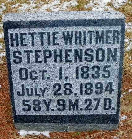 WHITMER STEPHENSON, HETTIE - Shelby County, Ohio | HETTIE WHITMER STEPHENSON - Ohio Gravestone Photos