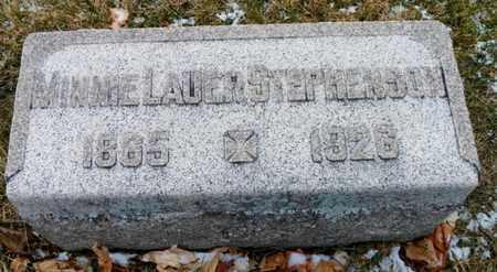 "LAURER STEPHENSON, MINERVA  ""MINNIE"" - Shelby County, Ohio | MINERVA  ""MINNIE"" LAURER STEPHENSON - Ohio Gravestone Photos"