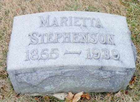 STEPHENSON, MARIETTA - Shelby County, Ohio | MARIETTA STEPHENSON - Ohio Gravestone Photos