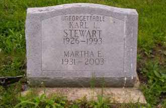 STEWART, MARTHA E. - Shelby County, Ohio | MARTHA E. STEWART - Ohio Gravestone Photos