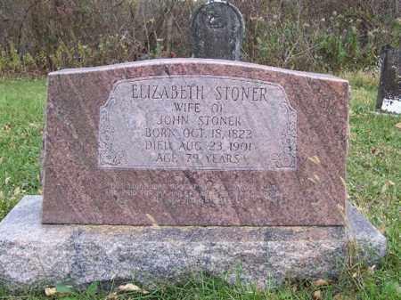 STONER, ELIZABETH - Shelby County, Ohio | ELIZABETH STONER - Ohio Gravestone Photos