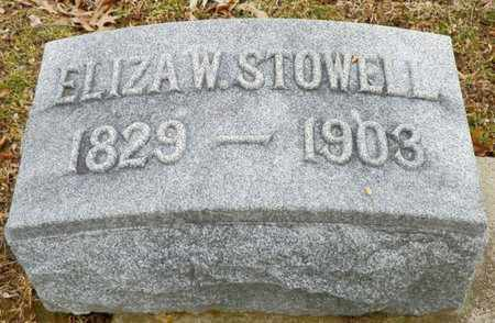 STOWELL, ELIZA W. - Shelby County, Ohio | ELIZA W. STOWELL - Ohio Gravestone Photos