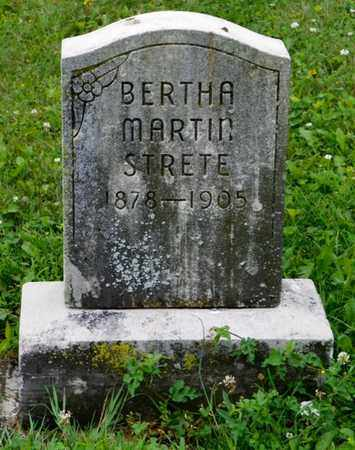 STRETE, BERTHA MARTIN - Shelby County, Ohio | BERTHA MARTIN STRETE - Ohio Gravestone Photos