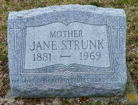 STRUNK, JANE - Shelby County, Ohio | JANE STRUNK - Ohio Gravestone Photos
