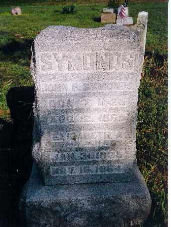 SYMONDS, ELIZABETH - Shelby County, Ohio | ELIZABETH SYMONDS - Ohio Gravestone Photos
