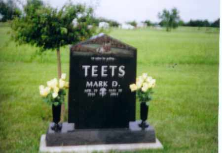 TEETS, MARK D - Shelby County, Ohio | MARK D TEETS - Ohio Gravestone Photos
