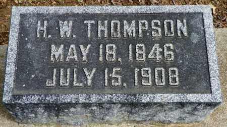THOMPSON, H. W. - Shelby County, Ohio | H. W. THOMPSON - Ohio Gravestone Photos