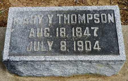 THOMPSON, MARY Y. - Shelby County, Ohio   MARY Y. THOMPSON - Ohio Gravestone Photos