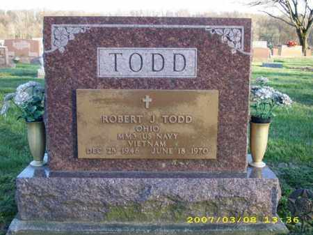 TODD, ROBERT J. - Shelby County, Ohio | ROBERT J. TODD - Ohio Gravestone Photos
