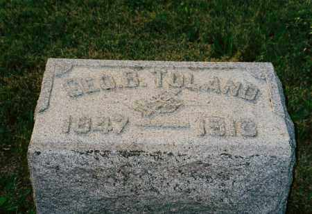TOLAND, GEORGE - Shelby County, Ohio | GEORGE TOLAND - Ohio Gravestone Photos