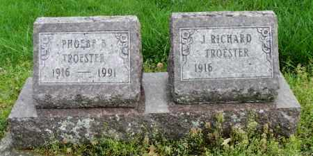 TROESTER, PHOEBE B. - Shelby County, Ohio | PHOEBE B. TROESTER - Ohio Gravestone Photos