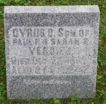 VERDIER, CYRUS D. - Shelby County, Ohio | CYRUS D. VERDIER - Ohio Gravestone Photos
