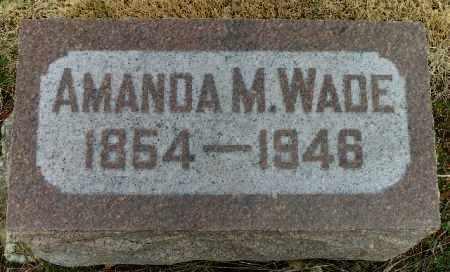 WADE, AMANDA M. - Shelby County, Ohio | AMANDA M. WADE - Ohio Gravestone Photos