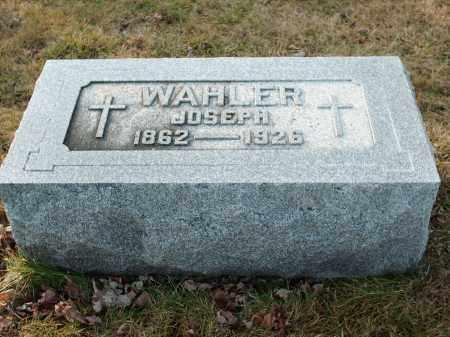 WAHLER, JOSEPH - Shelby County, Ohio | JOSEPH WAHLER - Ohio Gravestone Photos