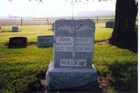 WALKUP, JOHN & MARY - Shelby County, Ohio | JOHN & MARY WALKUP - Ohio Gravestone Photos