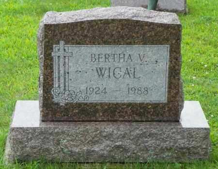 WICAL, BERTHA V. - Shelby County, Ohio | BERTHA V. WICAL - Ohio Gravestone Photos