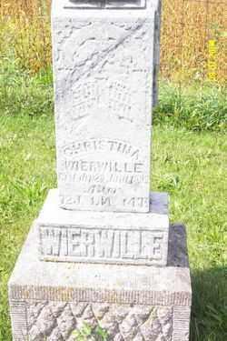 WIERWILLE, CHRISTINA - Shelby County, Ohio | CHRISTINA WIERWILLE - Ohio Gravestone Photos