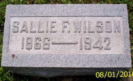 WILSON, SALLIE F. - Shelby County, Ohio | SALLIE F. WILSON - Ohio Gravestone Photos