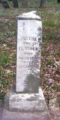 WOLF, MARTHA - Shelby County, Ohio | MARTHA WOLF - Ohio Gravestone Photos