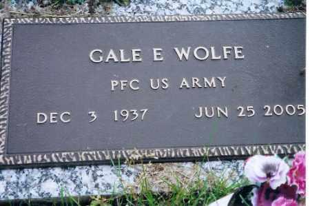 WOLFE, GALE E - Shelby County, Ohio | GALE E WOLFE - Ohio Gravestone Photos