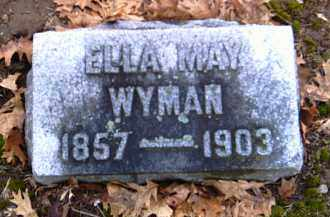WYMAN, ELLA MAY - Shelby County, Ohio | ELLA MAY WYMAN - Ohio Gravestone Photos