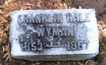 WYMAN, FRANKLIN HALE - Shelby County, Ohio | FRANKLIN HALE WYMAN - Ohio Gravestone Photos