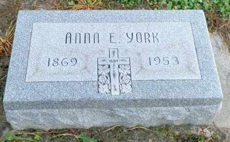 YORK, ANNA E. - Shelby County, Ohio | ANNA E. YORK - Ohio Gravestone Photos