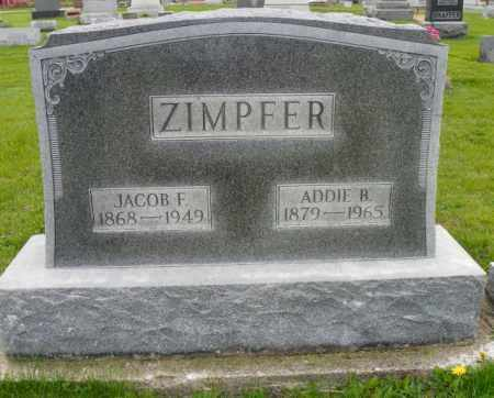ZIMPFER, ADDIE B. - Shelby County, Ohio | ADDIE B. ZIMPFER - Ohio Gravestone Photos