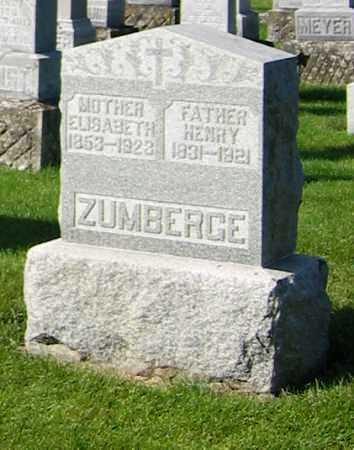 ZUMBERG, HENRY - Shelby County, Ohio | HENRY ZUMBERG - Ohio Gravestone Photos