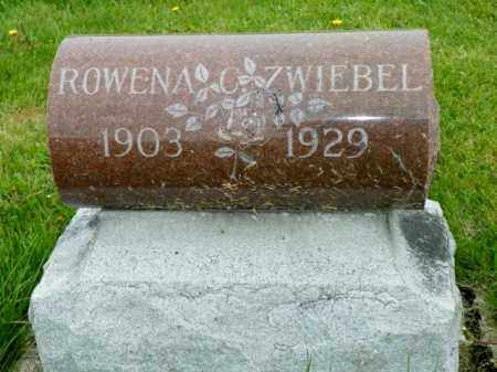 ZWIEBEL, ROWENA C - Shelby County, Ohio | ROWENA C ZWIEBEL - Ohio Gravestone Photos