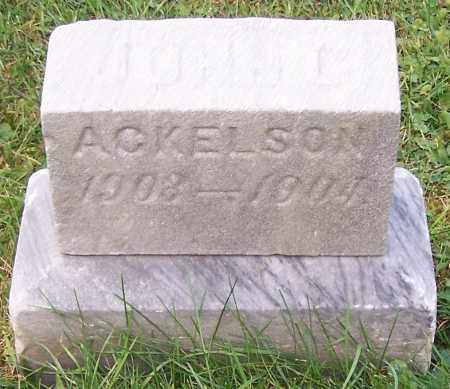 ACKELSON, JOHN L. - Stark County, Ohio | JOHN L. ACKELSON - Ohio Gravestone Photos