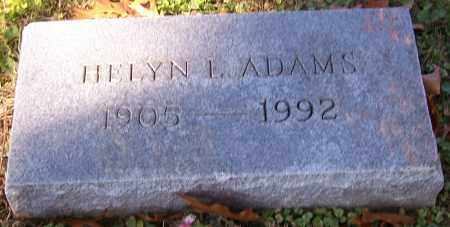 ADAMS, HELYN L. - Stark County, Ohio | HELYN L. ADAMS - Ohio Gravestone Photos