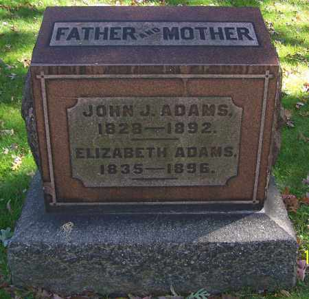 ADAMS, ELIZABETH - Stark County, Ohio | ELIZABETH ADAMS - Ohio Gravestone Photos