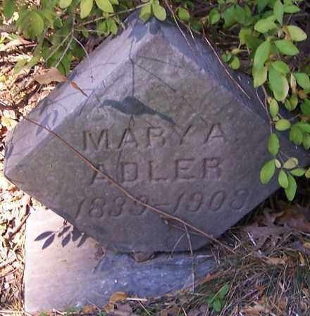 ADLER, MARY A. - Stark County, Ohio | MARY A. ADLER - Ohio Gravestone Photos