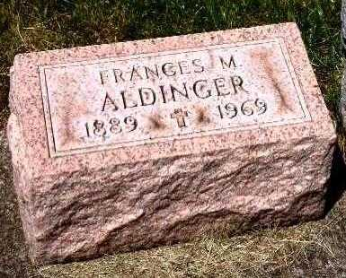 ALDINGER, FRANCES M. - Stark County, Ohio | FRANCES M. ALDINGER - Ohio Gravestone Photos