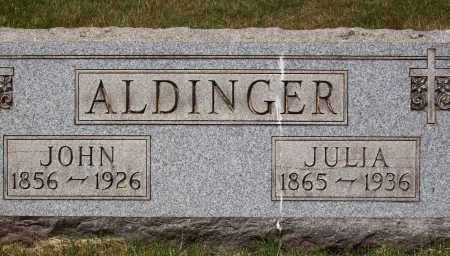 DELOYE ALDINGER, JULIA - Stark County, Ohio | JULIA DELOYE ALDINGER - Ohio Gravestone Photos