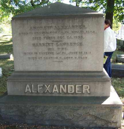 ALEXANDER, HARRIET LAWRENCE - Stark County, Ohio | HARRIET LAWRENCE ALEXANDER - Ohio Gravestone Photos