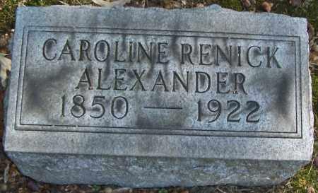 ALEXANDER, CAROLINE RENICK - Stark County, Ohio   CAROLINE RENICK ALEXANDER - Ohio Gravestone Photos