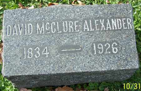 ALEXANDER, DAVID MCCLURE - Stark County, Ohio | DAVID MCCLURE ALEXANDER - Ohio Gravestone Photos