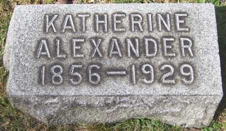 ALEXANDER, KATHERINE - Stark County, Ohio | KATHERINE ALEXANDER - Ohio Gravestone Photos