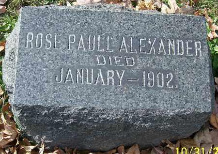 ALEXANDER, ROSE PAULL - Stark County, Ohio | ROSE PAULL ALEXANDER - Ohio Gravestone Photos