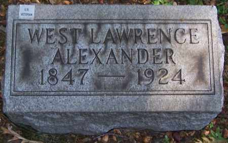 ALEXANDER, WEST LAWRENCE - Stark County, Ohio | WEST LAWRENCE ALEXANDER - Ohio Gravestone Photos