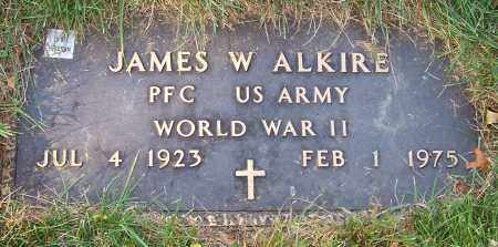 ALKIRE, JAMES W. - Stark County, Ohio | JAMES W. ALKIRE - Ohio Gravestone Photos