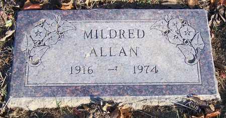 ALLAN, MILDRED - Stark County, Ohio | MILDRED ALLAN - Ohio Gravestone Photos