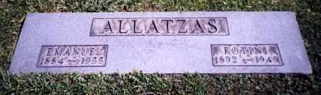 ALLATZAS, EMANUEL - Stark County, Ohio | EMANUEL ALLATZAS - Ohio Gravestone Photos