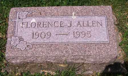 ALLEN, FLORENCE J. - Stark County, Ohio | FLORENCE J. ALLEN - Ohio Gravestone Photos