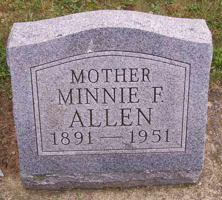 ALLEN, MINNIE F. - Stark County, Ohio | MINNIE F. ALLEN - Ohio Gravestone Photos
