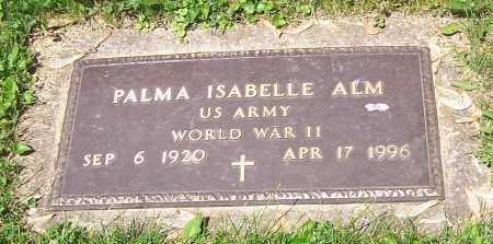 ALM, PALMA ISABELLE  (MIL) - Stark County, Ohio | PALMA ISABELLE  (MIL) ALM - Ohio Gravestone Photos