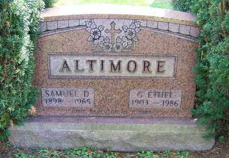 ALTIMORE, SAMUEL D. - Stark County, Ohio | SAMUEL D. ALTIMORE - Ohio Gravestone Photos